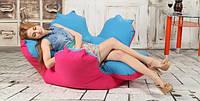 Кресло мешок цветок из мягкой ткани