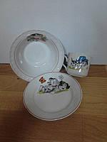 Набор посуды в садик с рисунком д. 175 мм