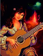Схема для вышивания бисером Цыганка с гитарой КМР 3172