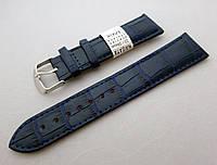 Кожаный ремешок Nagata, цвет синий, застежка золотистая, фото 1