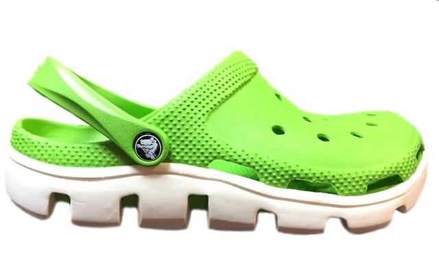 Crocs женские  Crocs Duet Sport Clog Green White