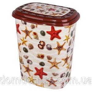 """Корзина для белья с рисунком """"Морские звезды"""" 53  л  Elif  Plastik, Турция"""
