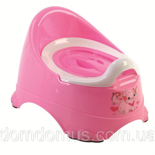 """Детский горшок """"Бейби-Комфорт""""  Dunya Plastik, Турция розовый"""