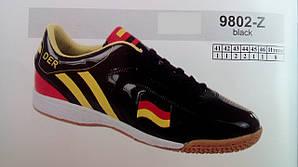 Стильные мужские футбольные кроссовки бутсы Der черные 7 км