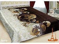 Шелковое покрывало на кровать 3 D 230*250 Латте