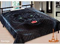 Шелковое покрывало на кровать 3 D 200*220 Пантера