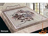 Шелковое покрывало на кровать 3 D 230*250 Венеция