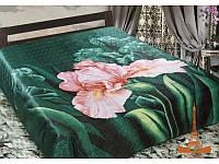Шелковое покрывало на кровать 3 D 230*250 Ирис