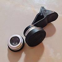 Объективы fisheye (фишай)180° 3 шт набор Серебристый, без сумочки