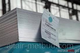 Лист нержавеющий марки 12Х18Н10Т 3х1000х2000