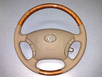 Перетяжка руля оригинальной кожей Lexus GX 470