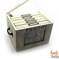 Деревянный фотоальбом на 6 отделений