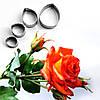 Каттер лист розы, металл, 4 шт.