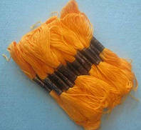 Нитки мулине хлопчатобумажные цвет желтый подсолнух BIS-mk-2 /58-1