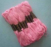 Нитки мулине хлопчатобумажные цвет розовый BIS-mk-4 /58-1