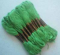 Нитки мулине хлопчатобумажные цвет салатово-зеленый BIS-mk-22 /58-1