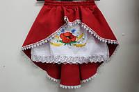 Вишита спідниця для дівчинки Veronika Тамара вишивка квіти червоний