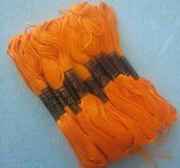 Нитки мулине хлопчатобумажные цвет ярко-оранжевый BIS-mk-34 /58-1