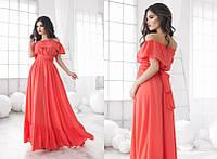 Легкое длинное платье в расцветках 553 (1056) , фото 1