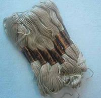 Нитки мулине хлопчатобумажные цвет серо-бирюзовый BIS-mk-38 /58-1