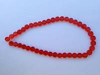 Бусина Таблетка цвет красный 8 мм