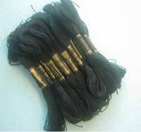 Нитки мулине хлопчатобумажные цвет темно-зеленый BIS-mk-53 /58-1