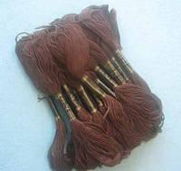 Нитки мулине хлопчатобумажные цвет темно-коричневый BIS-mk-54 /58-1