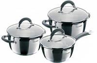 Наборы посуды Rondell RDS-341Flamme с крышкой 1,3 л+ 3,2л + 5,7л