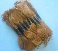 Нитки мулине хлопчатобумажные цвет темное золото BIS-mk-56 /58-1