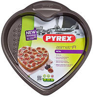 Форма для запекания Pyrex Heart Cake Pan 26 см, метал