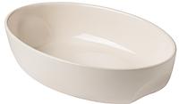Форма овальная для запекания Pyrex CURVES 33x21 см, керам, кремовый