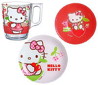 Набор детский Luminarc HELLO KITTY CHERRIES X3 предмета 6203975