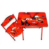 Детская парта DT 19-2 – столик со стульчиком Тачки, фото 2
