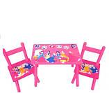 Столик и два стульчика М 1109 «Принцессы», деревянный, фото 2