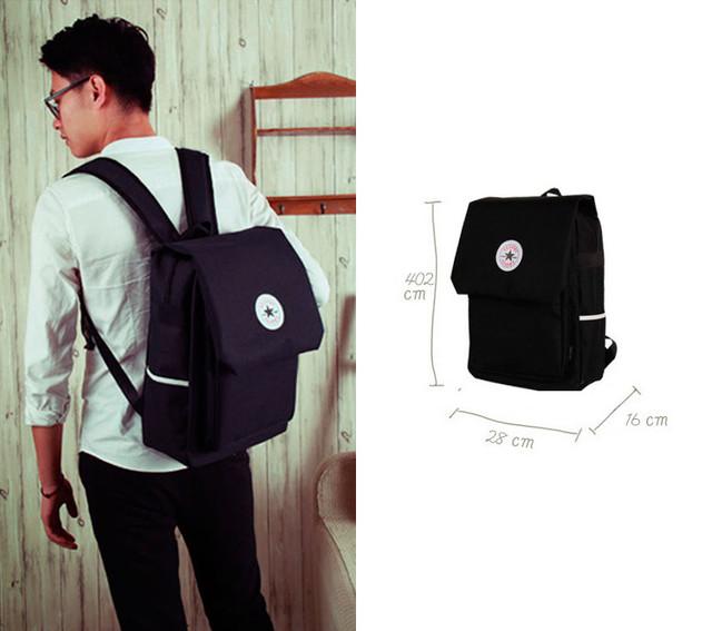 Парень с черным рюкзаком Akarmy | размеры рюкзака