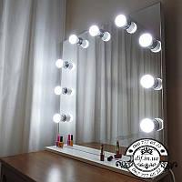 Гримерное зеркало визажиста (на 9 ламп) 80*80 см