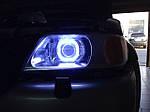 НАШИ РАБОТЫ: Установка билинз + Ангельские глаза COB LED Square на Mitsubishi Pajero Sport