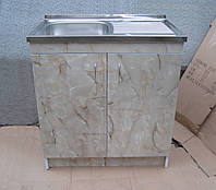 Мойка с тумбой 80х50 накладная (Глубокая), фото 1