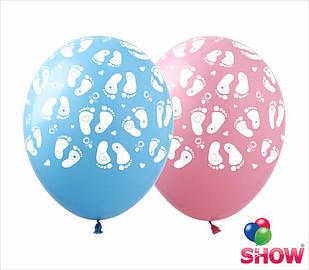 """Латексные воздушные шары с рисунком """"Ножки"""", диаметр 12 дюймов (30 см.), печать шелкография 5 сторон, 100 штук"""