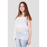 Привлекательная женская туника белого цвета