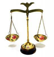 Весы подсвечник латунь