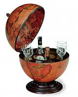 Глобус бар напольный коричневый круглый
