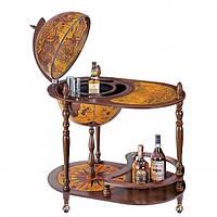 Глобус бар напольный коричневый овальный