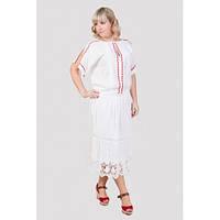 Красивая летняя женская юбка белого цвета