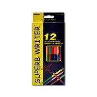 Цветные карандаши Marco двухсторонние 24цв