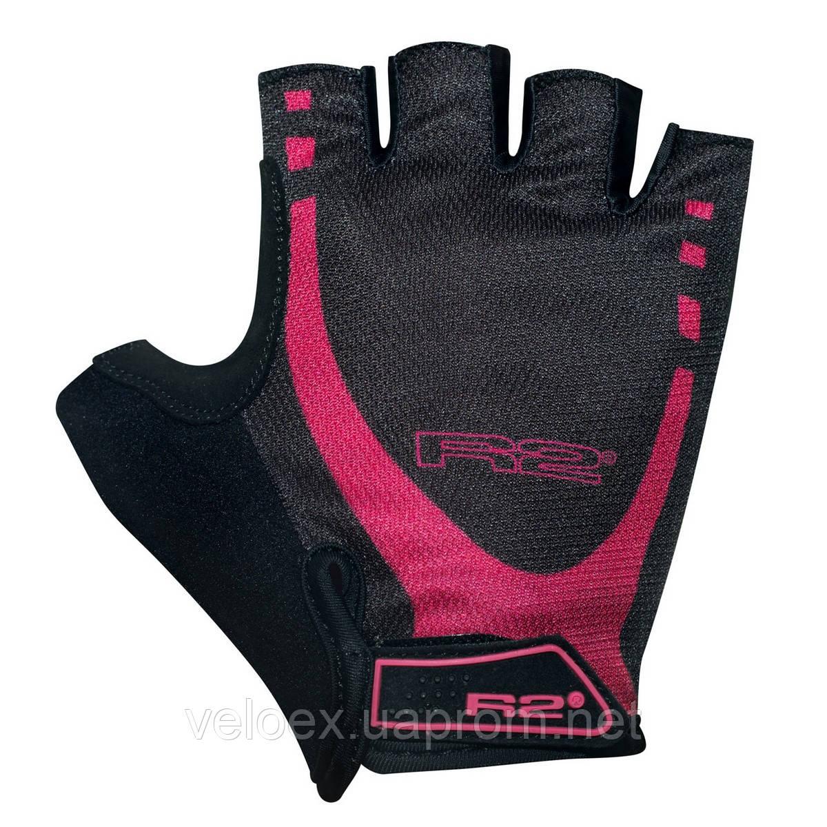 Перчатки R2 CUBEINO черно-розовые S