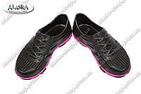 Подростковые кроссовки малино-черные (Код: Кросовки)