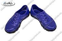 Подростковые кроссовки черно-фиолетовые (Код: Кросовки)