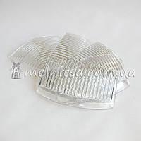 Гребешок-основа пластик прозрачный, 8,5 см