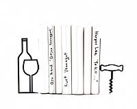 Держатели для книг Больше вина меньше нытья
